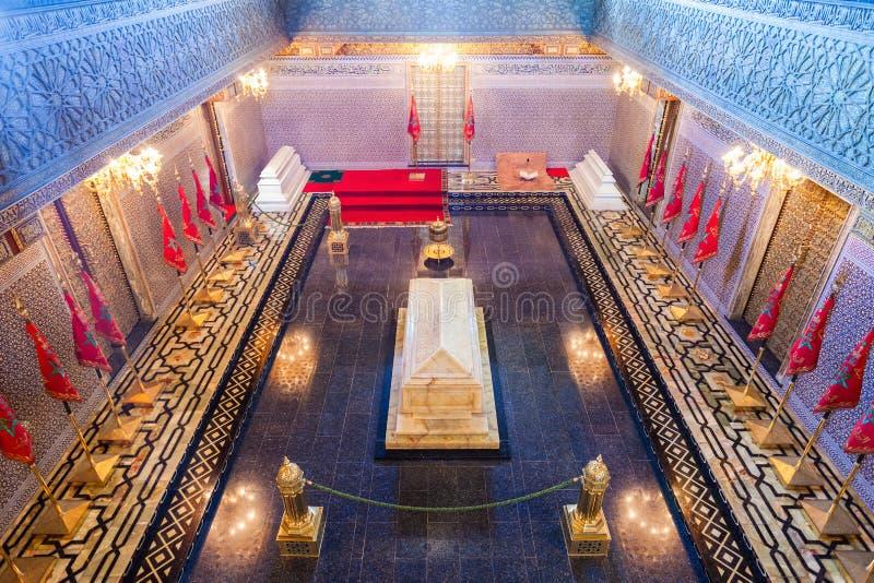 Mausoleum Mohammed V royalty free stock photo