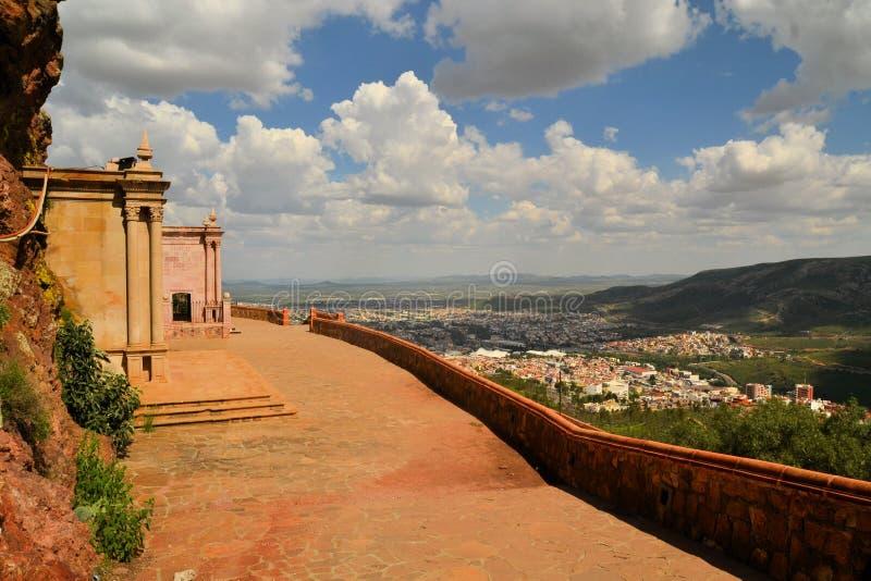 Mausoleum på Cerro de la Bufa, Zacatecas, Mexico royaltyfri foto