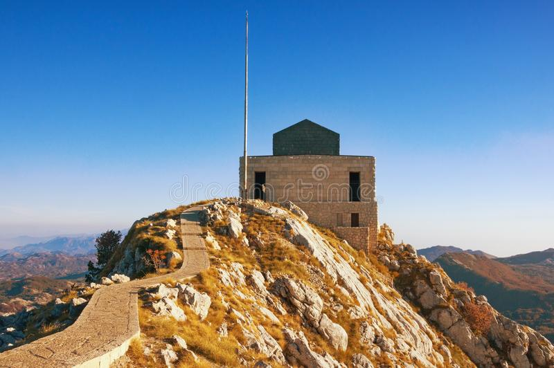 Mausoleum of Petar II Petrovic-Njegos in Lovcen National Park . royalty free stock photography