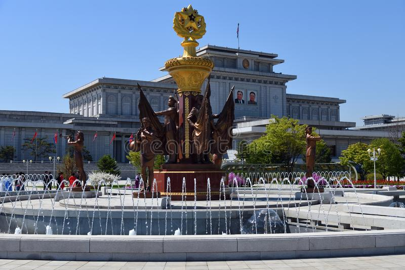 mausoleum Pyongyang, Coreia norte fotos de stock royalty free