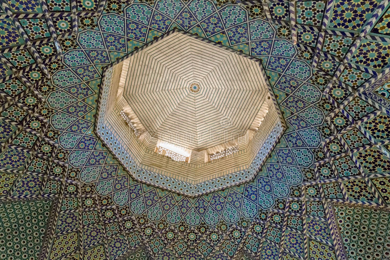 Mausoleum of Saady ceiling mosaic royalty free stock photography
