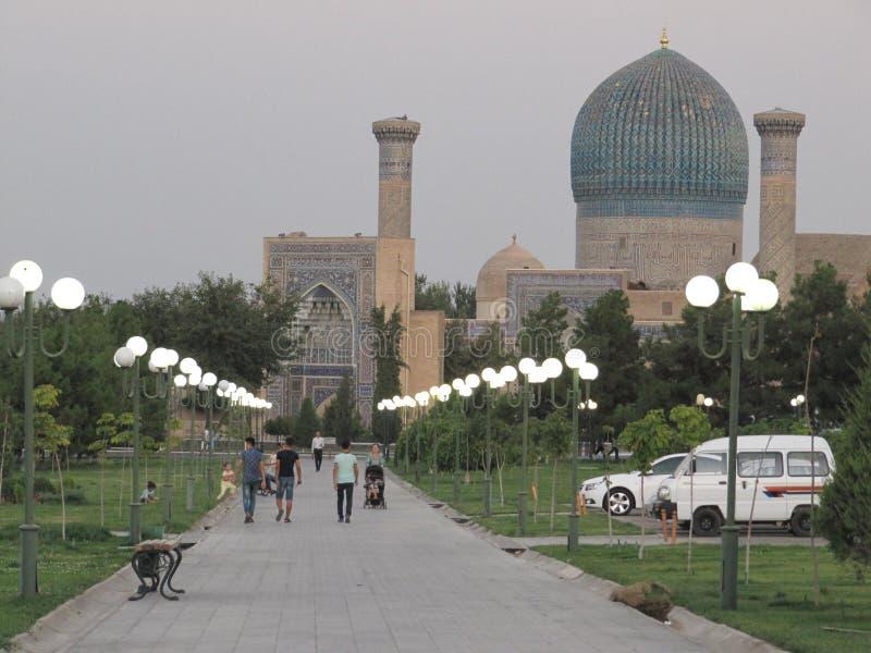 Mausoleum Samarkand stock afbeeldingen
