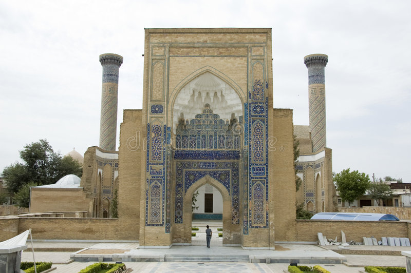 Mausoleum in Samarkand stock afbeeldingen