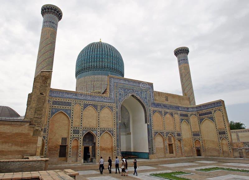 Mausoleum, Samarkand, Usbekistan stockfotos