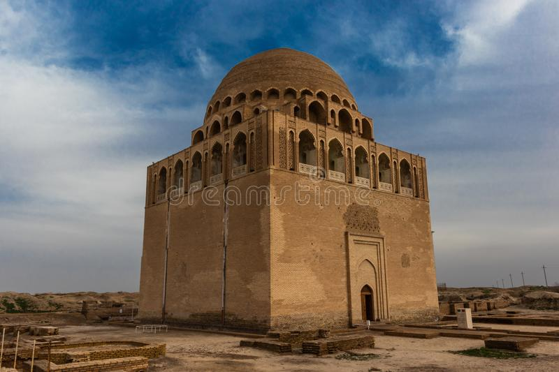 Mausoleum of Sultan Sanjar the ruler of a dynasty of the great Turkmen-Seljuks, Dar-ul-ahira the other world Recognised as a pea stock photography