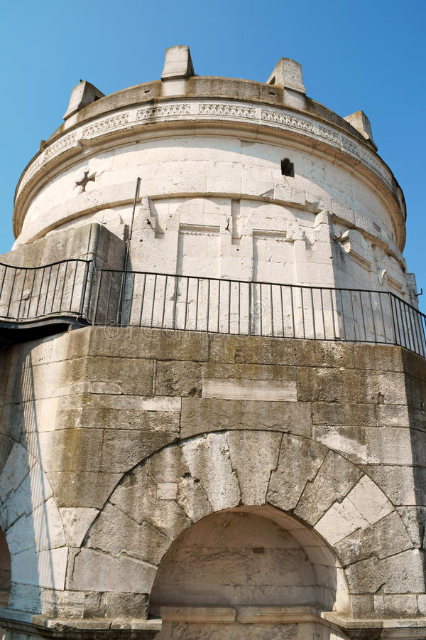 Mausoleum of Theodoric in Ravenna stock images