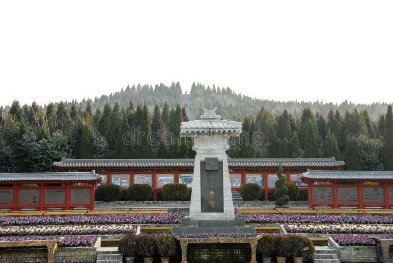 Mausoleum van Eerste Qin Emperor in Xian, China stock fotografie