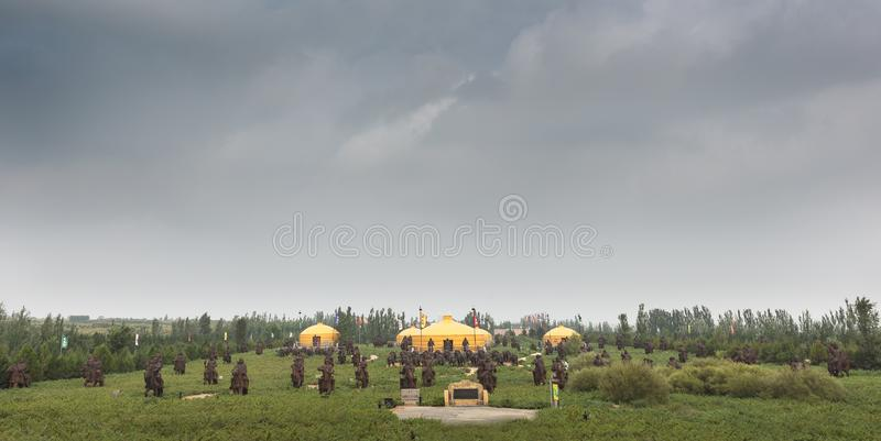 Mausoleum van Genghis Khan royalty-vrije stock foto