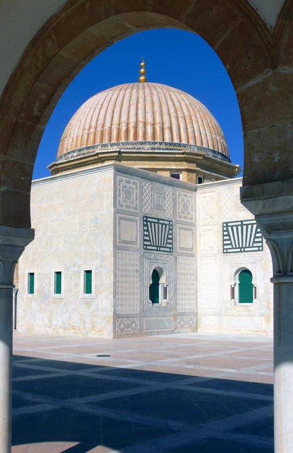 Mausoleum van Habib Bourgiba stock fotografie