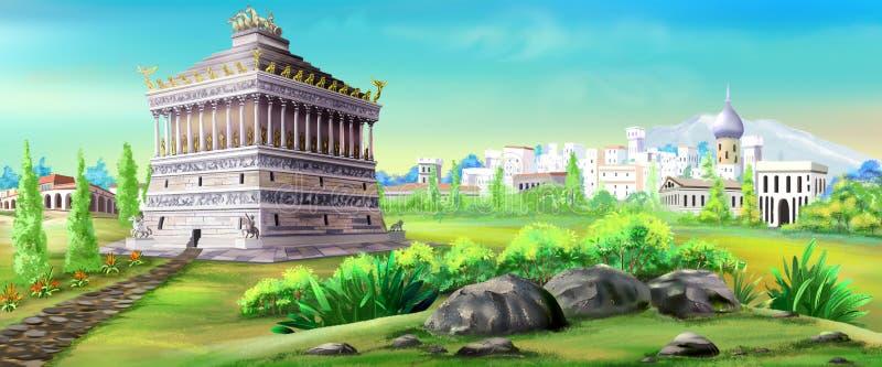 Mausoleum van Halicarnassus vector illustratie
