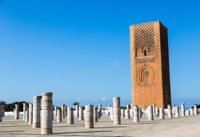 Mausoleum van Mohammed V in Rabat, Marokko Vermeld in de Unesco-plaatsen van de Werelderfenis stock afbeeldingen