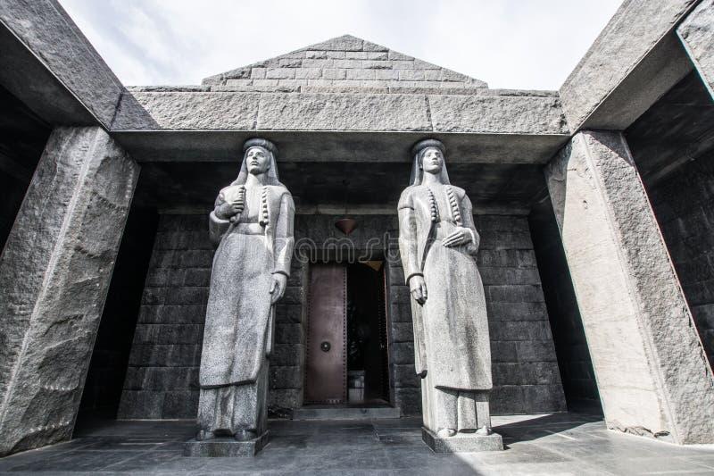 Mausoleum van Petar Petrovic Njegos, het Nationale Park van Lovcen royalty-vrije stock foto's