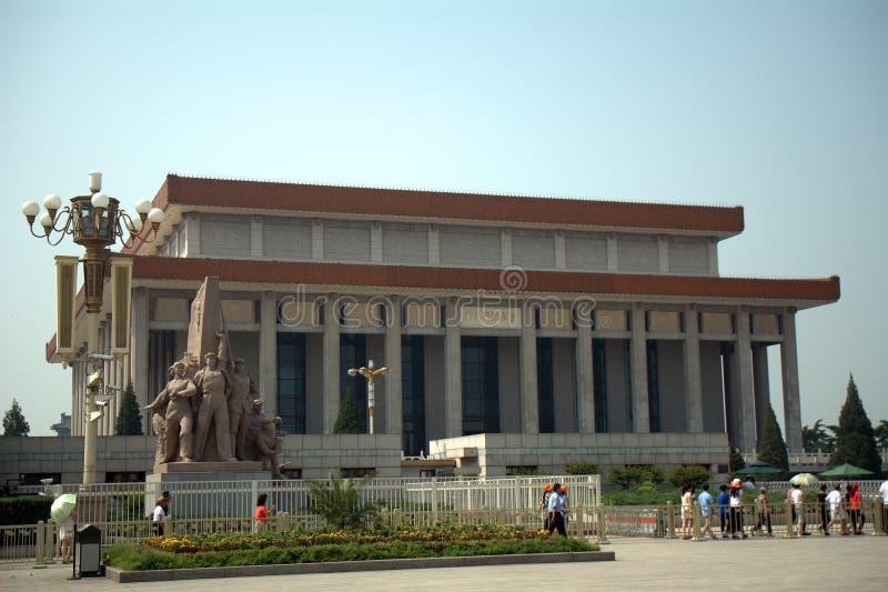 Mausoleum van Voorzitter Mao, Peking, China royalty-vrije stock afbeelding