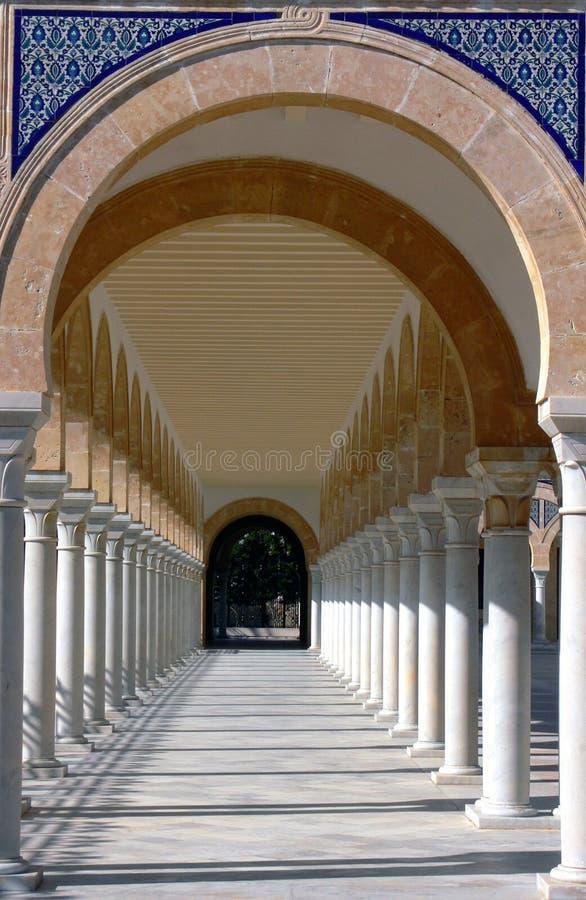 Mausoleum von Habib Bourgiba lizenzfreie stockbilder