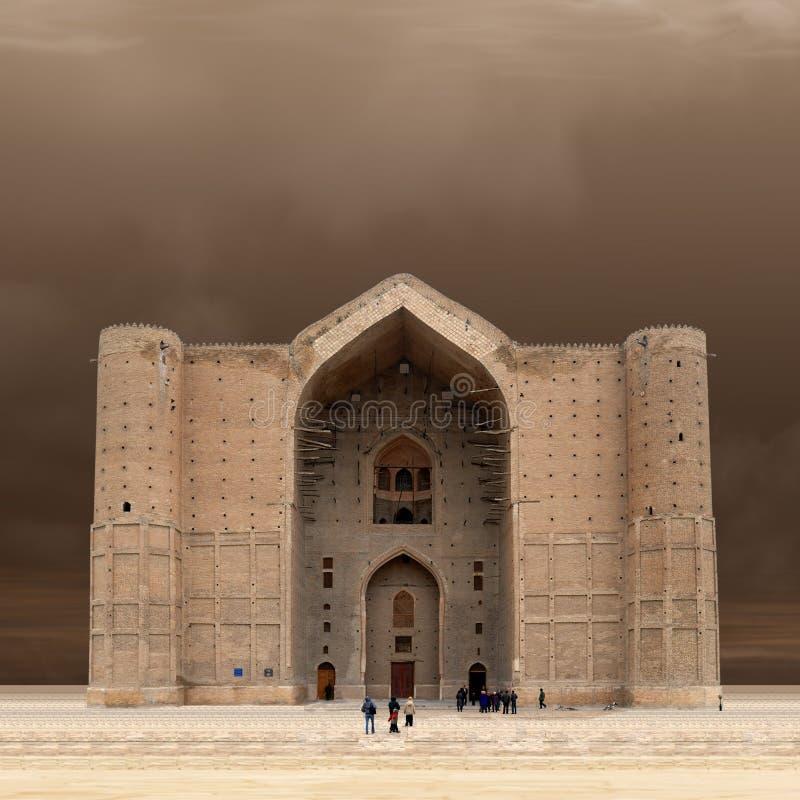 Mausoleum von Khoja Ahmed Yasawi lizenzfreie stockfotos