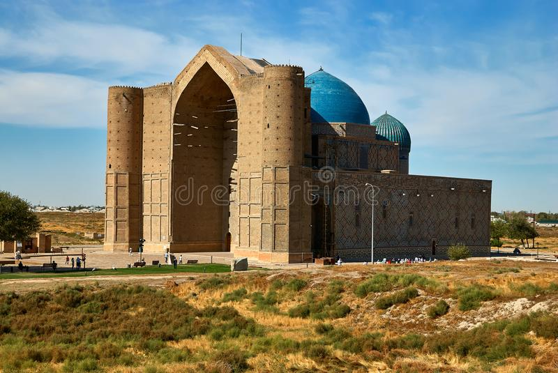 Mausoleum von Khoja Ahmed Yasawi, Turkestan, Kasachstan stockfotos