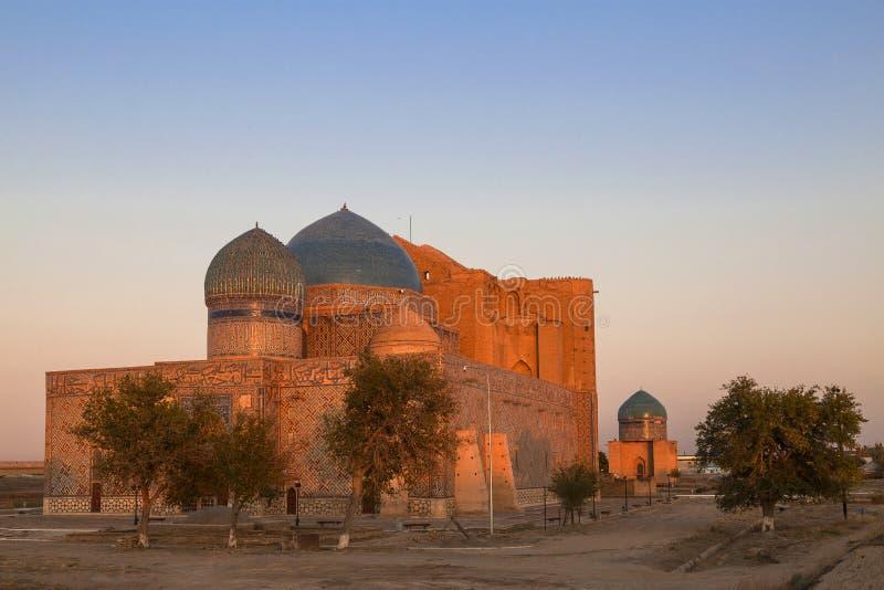 Mausoleum von Khoja Ahmed Yasawi, Turkestan, Kasachstan lizenzfreie stockbilder