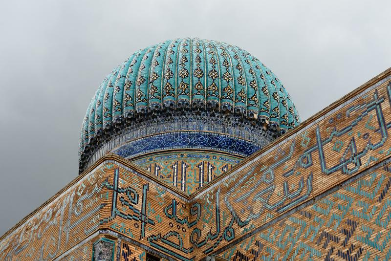 Mausoleum von Khoja Ahmed Yasawi in Turkistan, Kasachstan lizenzfreie stockbilder