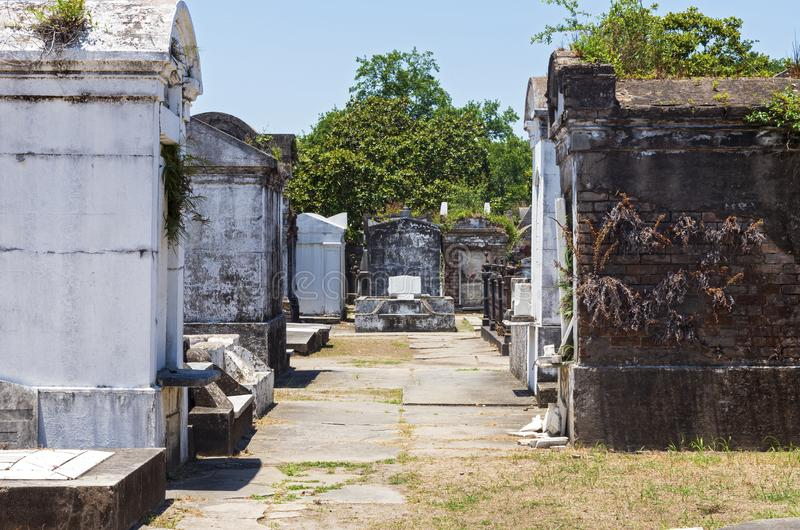 Mausoleums and Tombs at Historic Cemetery in New Orleans. Louisiana stock photos