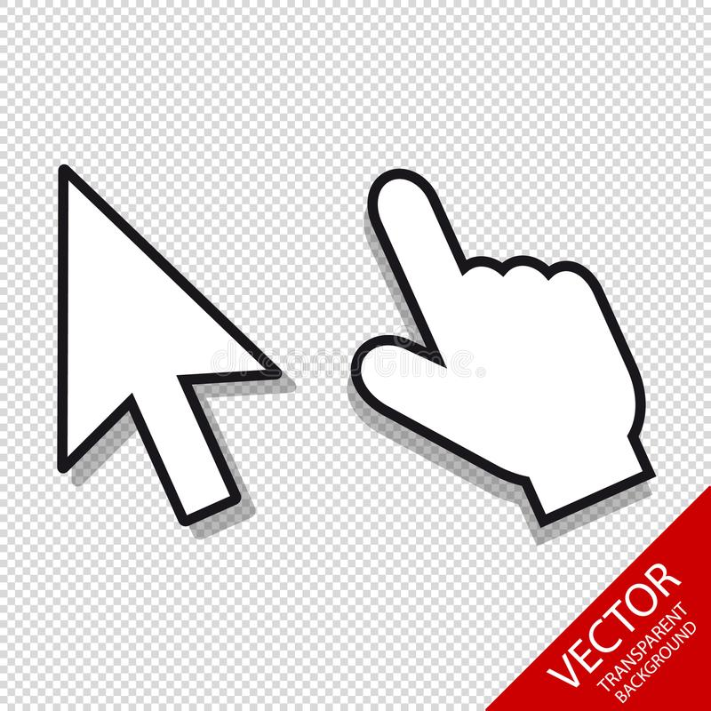 Mauszeiger eingestellt - Editable Vektor-Ikonen - lokalisiert auf transparentem Hintergrund lizenzfreie abbildung