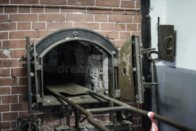 Mauthausen, Austria; 07/26/2015: Widok crematorium Mauthausen koncentracyjny obóz obrazy royalty free