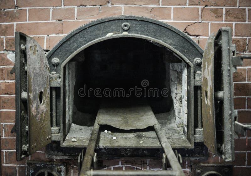 Mauthausen, Austria; 07/26/2015: Widok crematorium Mauthausen koncentracyjny obóz zdjęcia stock