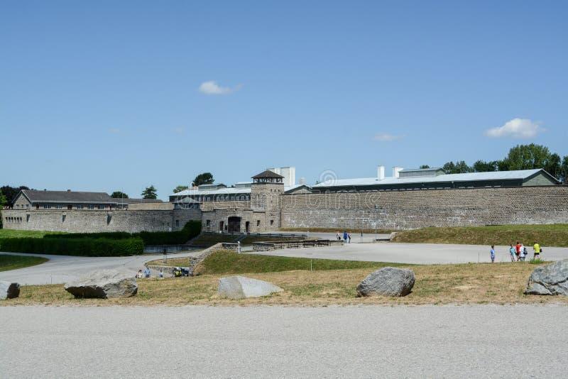 Mauthausen, Autriche ; 07/26/2015 : Vue extérieure du camp de concentration de Mauthausen photos stock