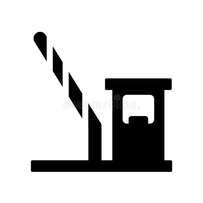 Mautstraßeikone Modisches Mautstraßelogokonzept auf weißem backgroun stock abbildung