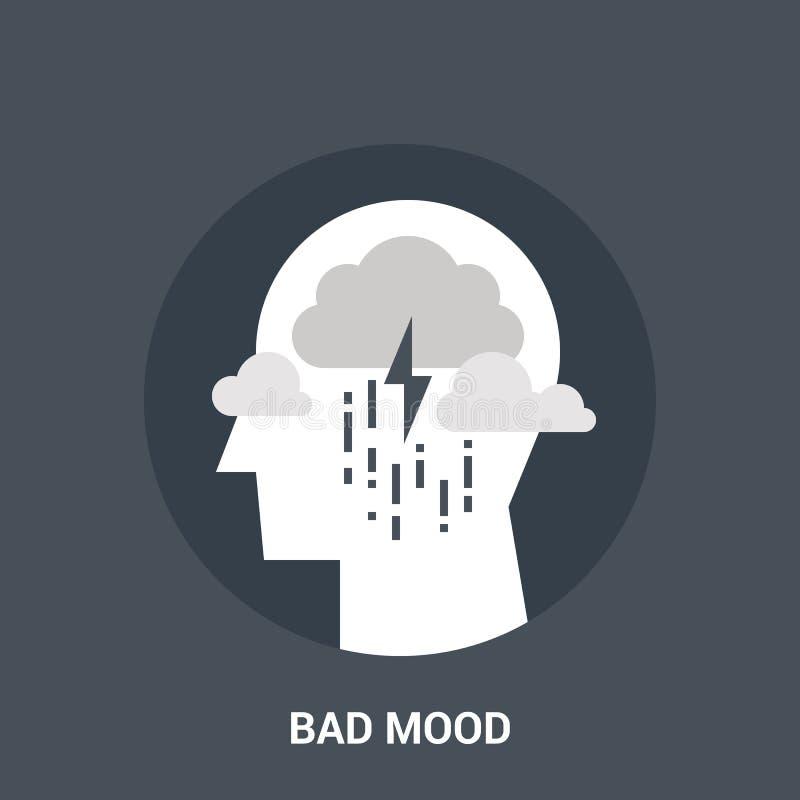 Mauvais concept d'icône d'humeur illustration stock