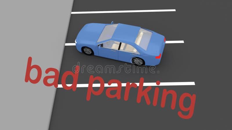 Mauvais concept de stationnement illustration de vecteur