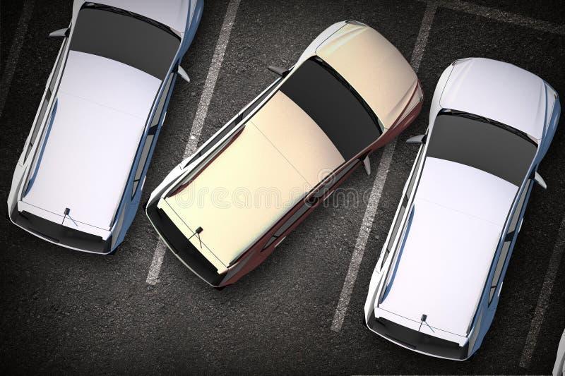 Mauvais conducteur sur le stationnement photos libres de droits