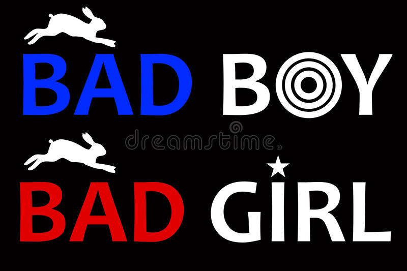 Mauvais garçon et mauvaise fille illustration libre de droits