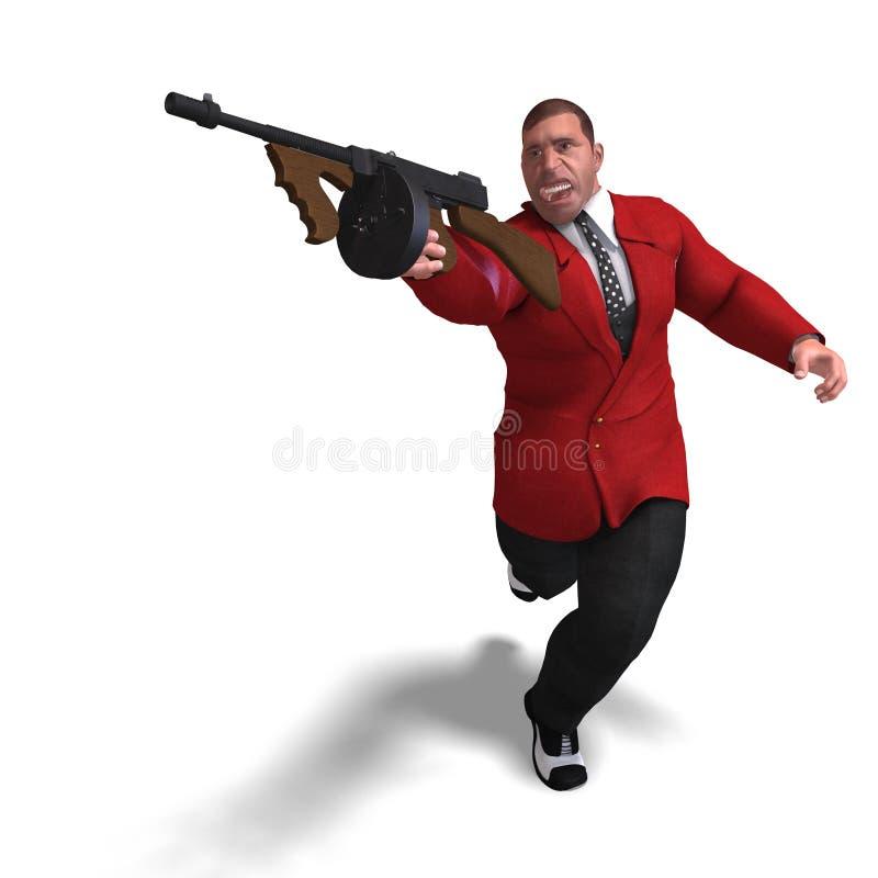 Mauvais homme de canon de Mafia illustration libre de droits