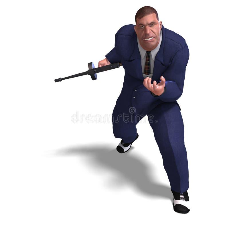 Mauvais homme de canon de Mafia illustration de vecteur