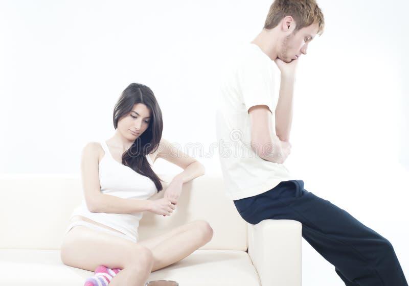 Mauvais moments dans les couples photos stock