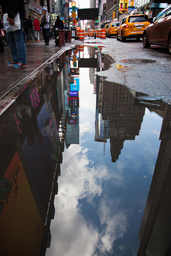 Mauvais temps à New York photo libre de droits