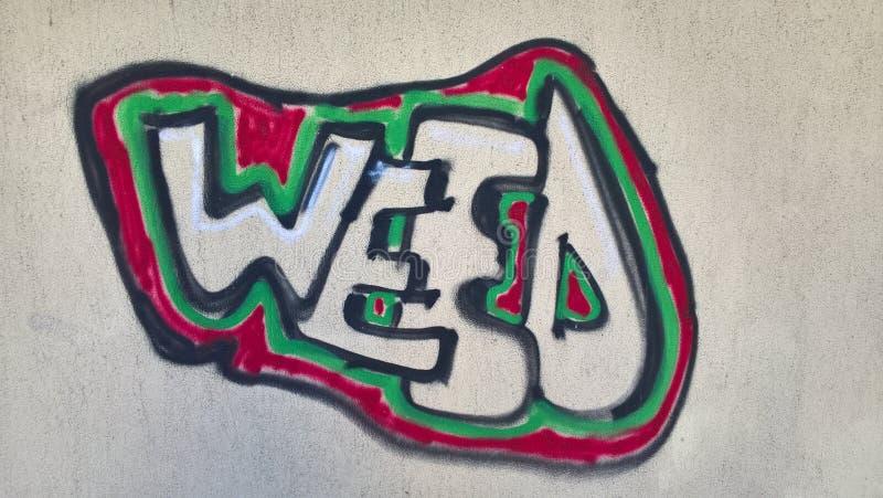 Mauvaise herbe Graffity images libres de droits