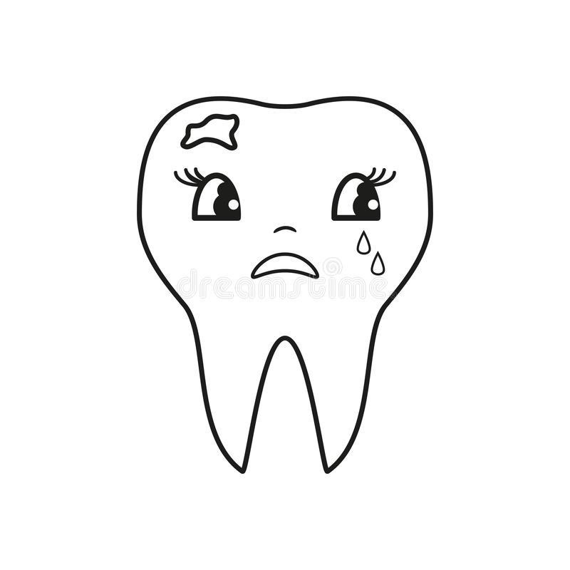 Mauvaise icône de cri de dents illustration libre de droits