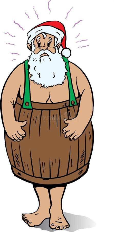 Mauvaise Santa illustration libre de droits