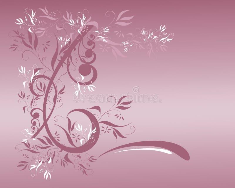 Mauve Bloemen royalty-vrije illustratie