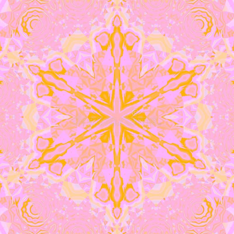 Mauve violet d'étoile d'ornement de rose sans couture de jaune illustration stock