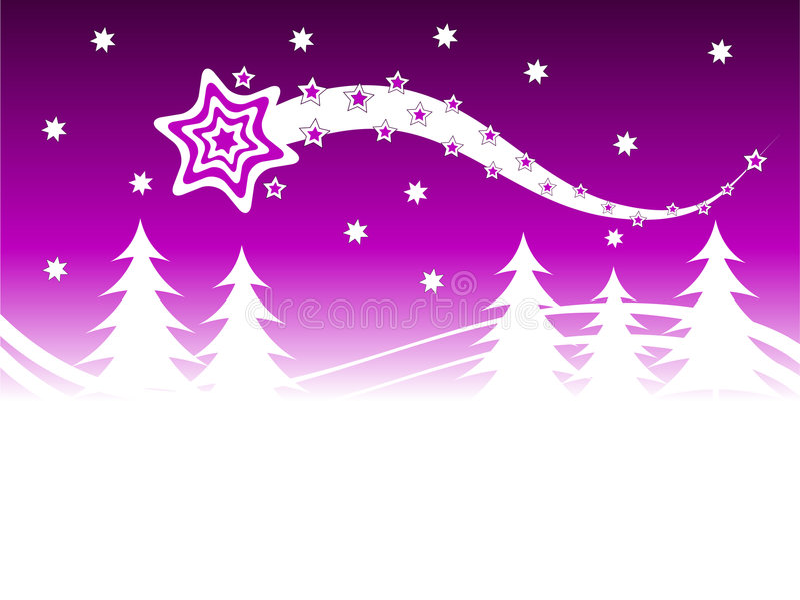 Mauve Winter Background vector illustration