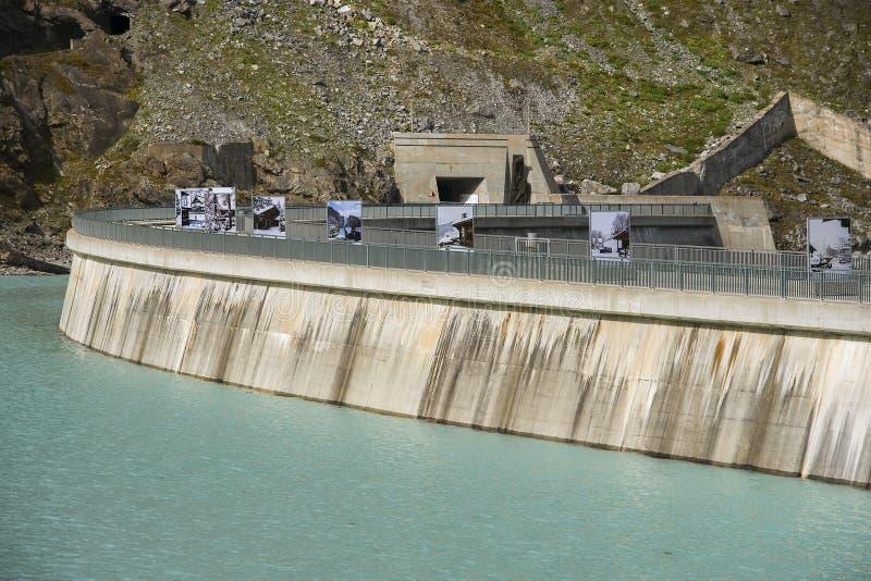 Mauvoisin-Verdammung, Kanton Wallis, die Schweiz stockbilder