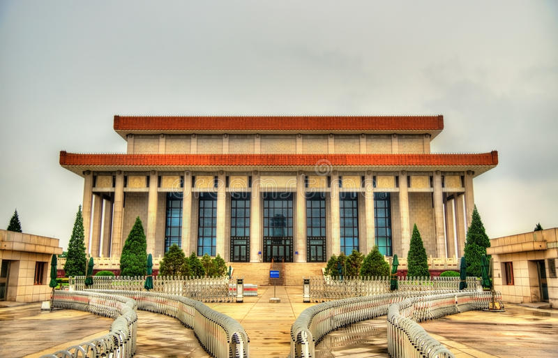 Mauzoleum Mao Zedong na plac tiananmen w Pekin zdjęcia royalty free