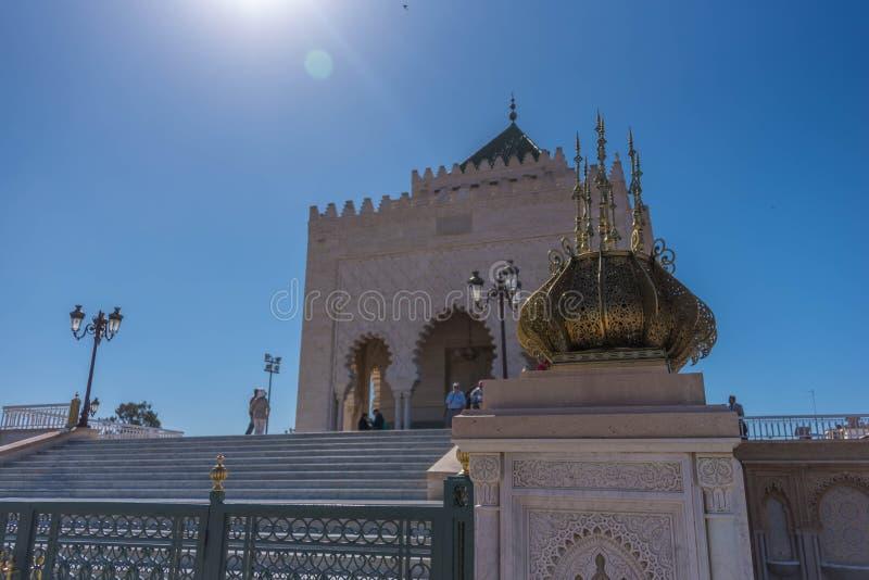 Mauzoleum Mohammed V w Rabat zdjęcie stock