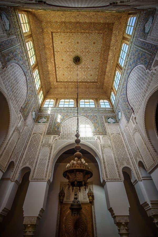 Mauzoleum Moulay Idris w Meknes, Maroko obrazy stock