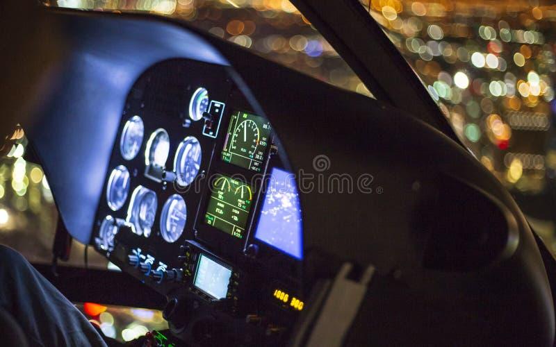 The Maveric helicopter dashboard, Las Vegas Boulevard royalty free stock photos