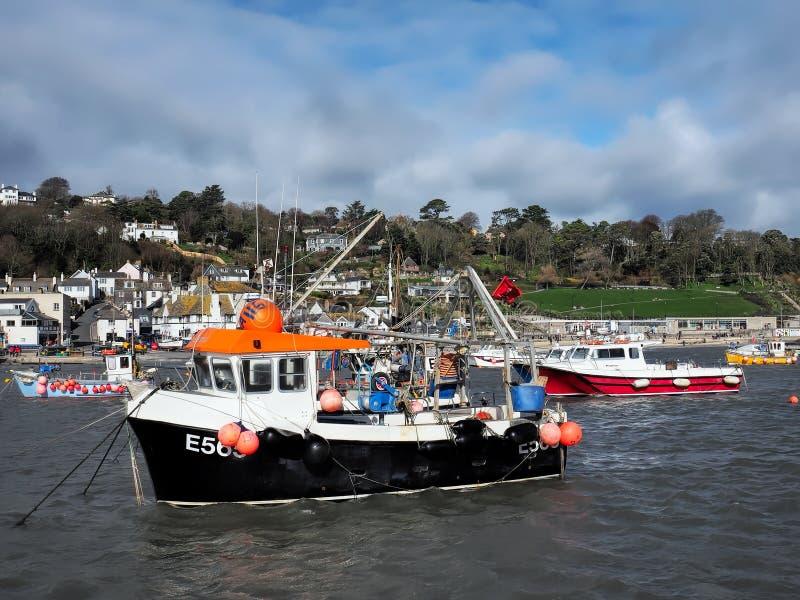 Maverick Fishing Boat - Lyme Regis Harbour royaltyfria foton