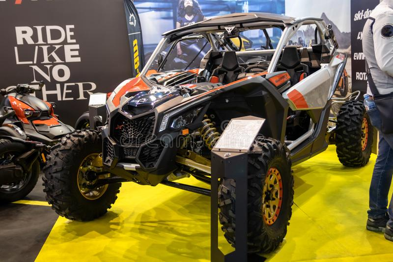 Maverick X3 X RS turbo R off road vehicle on 54th Belgrade international car and motor show. Belgrade - Serbia stock images