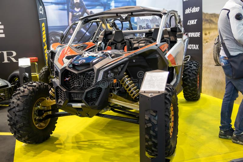 Maverick X3 X RS turbo R off road vehicle on 54th Belgrade international car and motor show. Belgrade - Serbia royalty free stock image